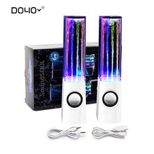 Dancing Water Speaker Moveable Mini USB LED Gentle Bluetooth Speaker For iphone ipad PC MP3 MP4 PSP subwoofer water-column audio