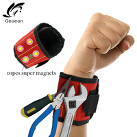 Geoeon Polyester Magnetic Wristband Portable Tool Bag Electrician Wrist Tool Belt  Storage Screws Nails drill Various tools D28