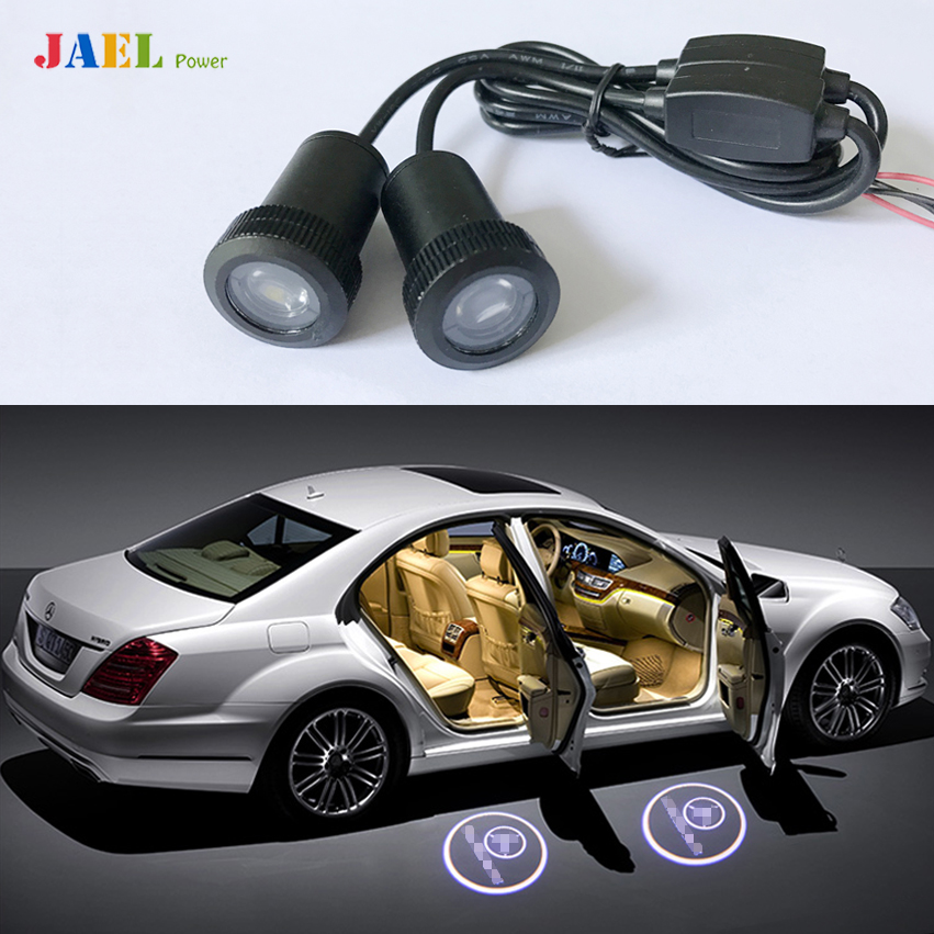 2PCs LED Car Ghost light Case For Ford Audi BMW Toyota Volkswagen Light courtesy led car laser projector Logo Ghost Shadow Light стоимость