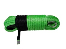 Free Shipping 12mm*30m Green Synthetic Rope,ATV Winch Line,Off road Rope,Winch Rope Extension