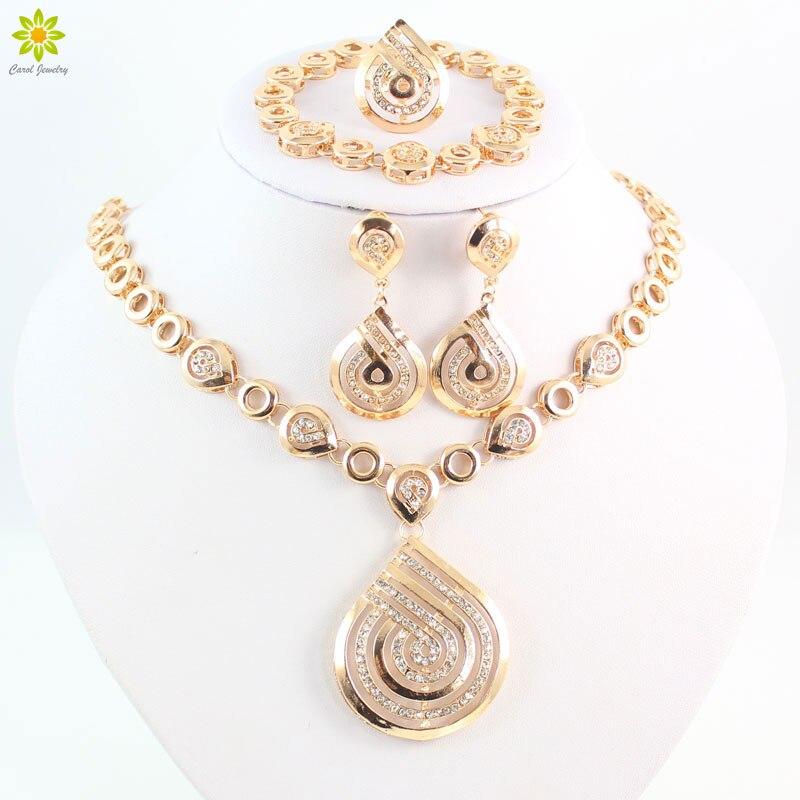 Schmuck & Zubehör GroßZüGig Fashion Nigerianischen Hochzeits Afrikanische Perlen Halskette Set Wassertropfen Ohrringe Für Frauen Party Dubai Hochzeit Zubehör Schmuck-set Sparen Sie 50-70%
