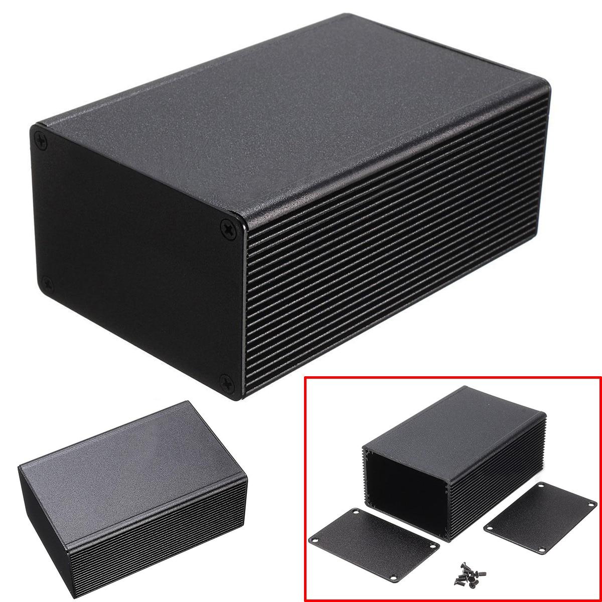 1Pcs Aluminum Electronic Box Black PCB Instrument Meter Enclosure Case 100x66x43mm