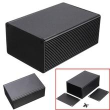 1 шт. Алюминиевая Электронная коробка Черный PCB инструмент корпус счетчика чехол 100x66x43 мм