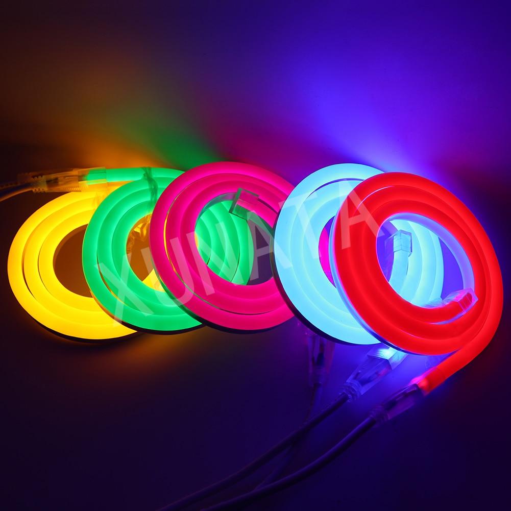 1-100m Outdoor&Indoor LED Lighting Flex LED Neon Light SMD 2835 120leds/M Waterproof IP68 LED Neon Strip Light Decoration DC 12V