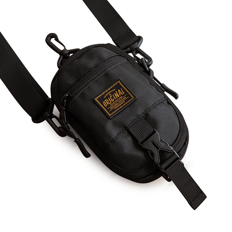 YIFANGZHE Crossbody Cell Phone Small Bag, Mini Fashion Cross-body Storage Phone Pouch Men Handbag with Shoulder Strap (black)