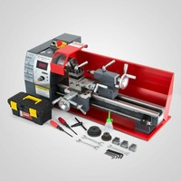 750W 210 Metal Processing Variable Speed Lathe Metal Lathe Bench Top Mini 8x16 Inch