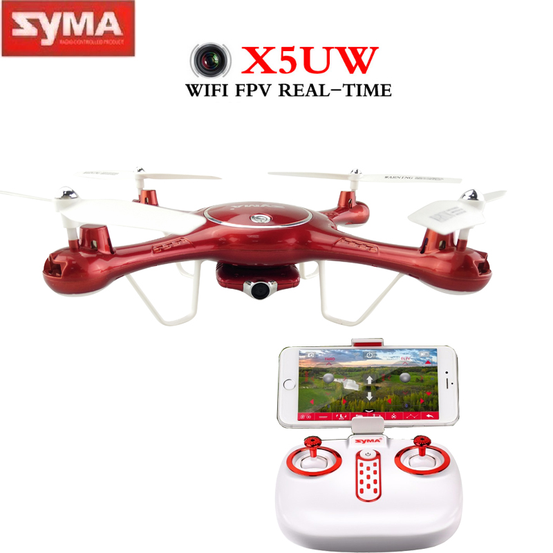 SYMA X5UW Drone with WIFI Camera HD FPV Real-time Transmission 2.4G 4CH 6Aixs RC Helicopter Dron Helicopter Altitude Hold Drone cheerson cx 32s drone with 2mp camera lcd 4ch 6axis helicopter with fpv 5 8g video real time transmision hight hold aircraft