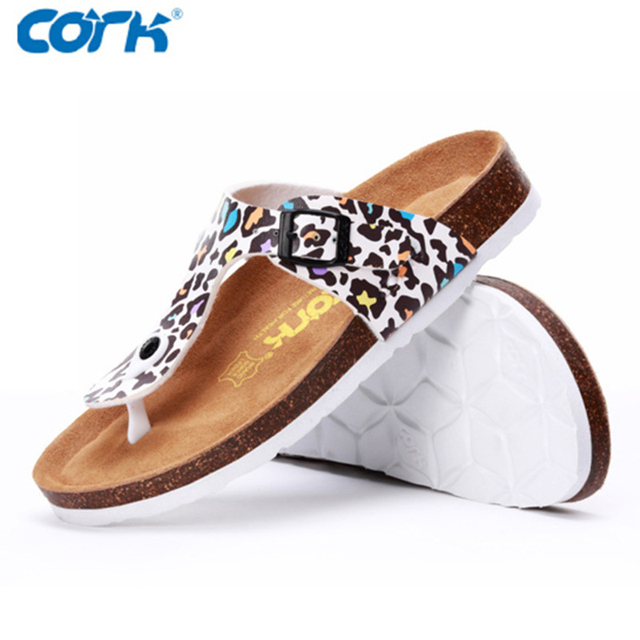 bacf1fee5f587e Cork Brand Fashion Flip Flops Women and Men Beach Sandals 2016 Summer  Trendy Zebra Leopard Animal Print Flat Shoes For Lovers