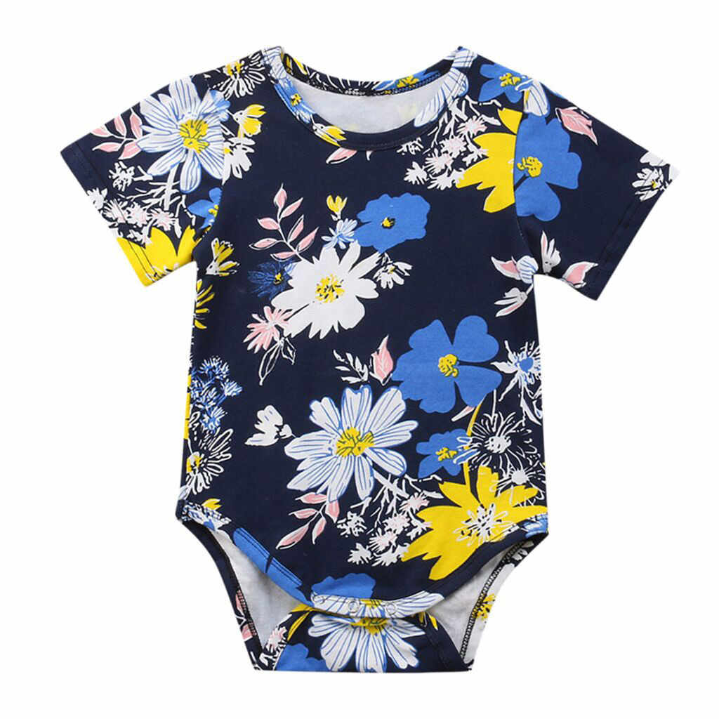 Newborn Infant Baby Girls Boy Floral Print Romper Outfits Clothing brand 2019 new bebek kyafetleri quality overalls for newborns