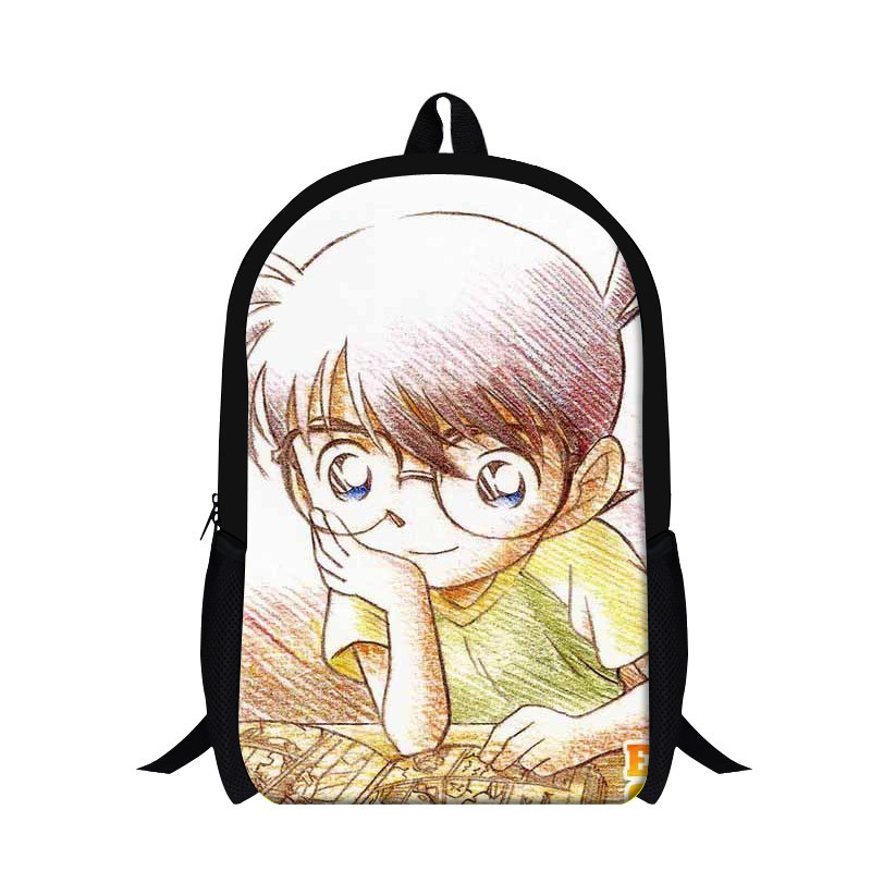 7 Fashion high quality girl and boy outdoor backpack detective conan kid school bag