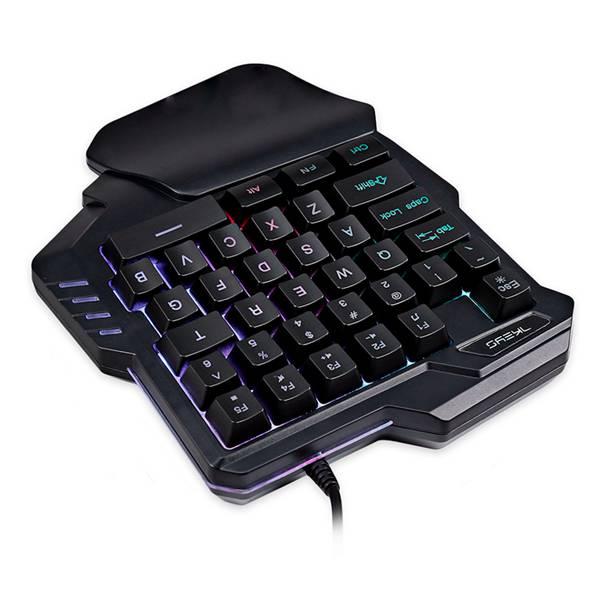 Image 2 - G30 1,6 м Проводная игровая клавиатура со светодиодной подсветкой  35 клавиш с одной рукой Мембранная клавиатура для LOL/PUBG/CF-in  Клавиатуры from Компьютеры и офисная техника on AliExpress