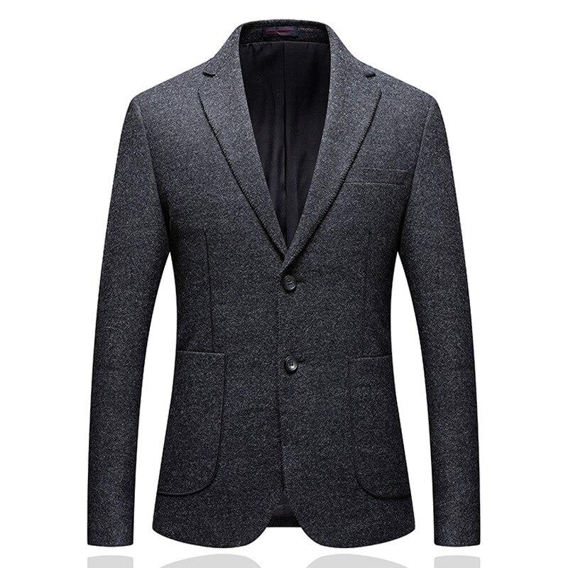 Haute qualité décontracté laine costumes pour hommes britanniques pour hommes costume automne-hiver épais Slim Fit Plaid robe de mariée Tuxedos