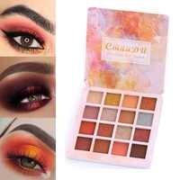 16 cores Moda Sombra Paleta Fosco Sombra Paleta de Brilho Sombra de Olho Maquiagem Nude maquiagem Definir Cosméticos TSLM1