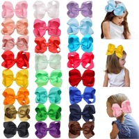 "24 Pcs 6 Inch Hair Bows for Girls Big Grosgrain Girls 6"" Hair Bows Alligator Clips For Teens Kids Toddlers"