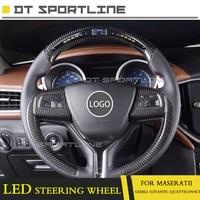 Carbon Fiber LED rennen display Angepasst LCD bildschirm guage meter Für Maserati für Levante für Ghibli für Quattroporte Lenkung-in Lenkräder & Hupen aus Kraftfahrzeuge und Motorräder bei