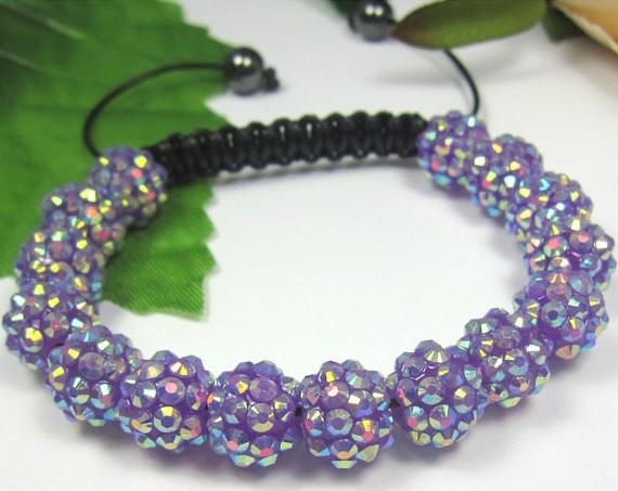 New ! MTUKOYF hot micro pave CZ Disco RESIN Bracelet fasion Giftjewelry Discount. crystal shamballa