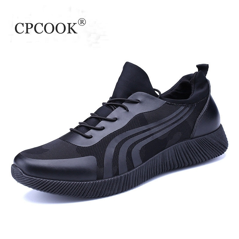 2018 De Caminar Negro Hombre Zapatillas Calzado Cesta Casuales Marca Transpirable Moda Malla Zapatos Los Cpcook azul Negro Krasovki Hombres pwq4ddg