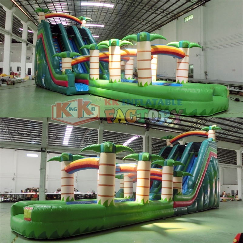 Carnival Product Slip and Slide Coconut Inflatable Water Slide for Kids and Adults