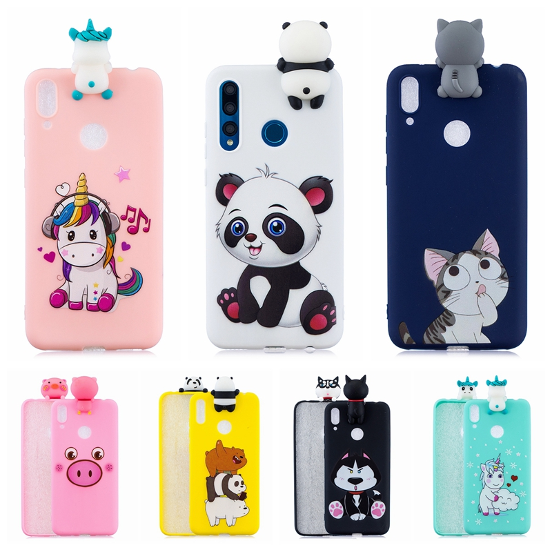 Etui Huawei Y5 Y6 Y7 Y9 Prime 2019 Cases 3D Kawaii Panda Unicorn Silicon Cover on for Funda Huawei Y5 Y6 Y7 Y9 (2019) Phone Case 1