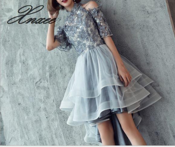 Party dress 2019 new summer fashion irregular gray party dress