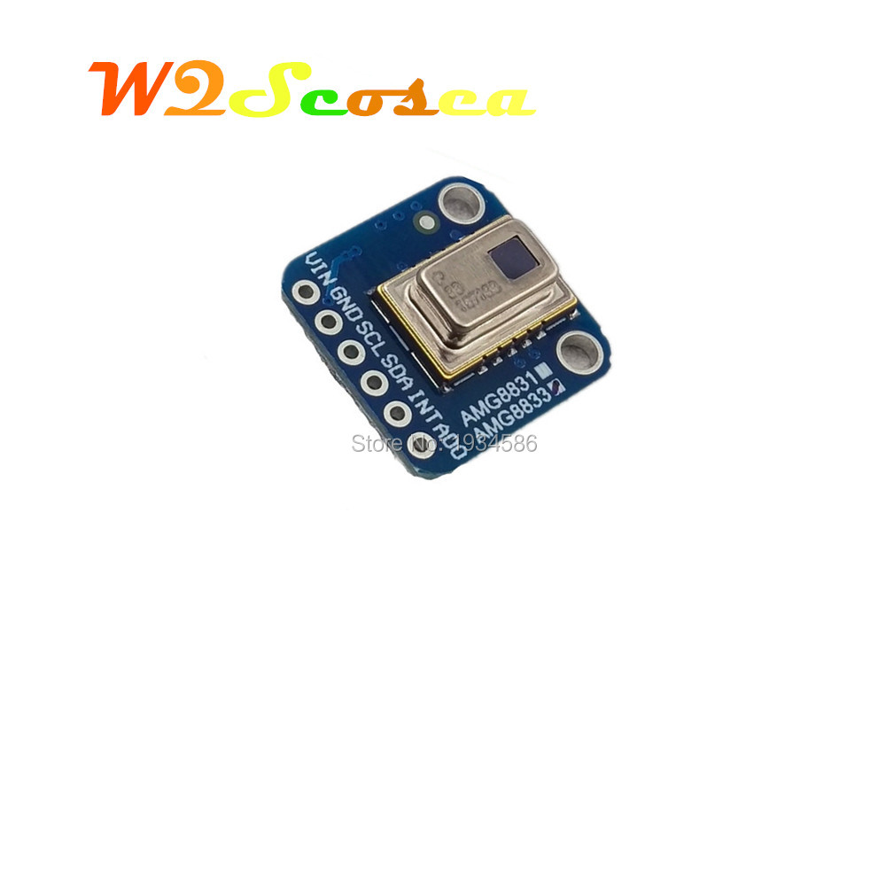 US $32 95 |AMG8833 3 5v 8*8 I2C IR Infrared Temperature Thermal Camera  Imaging Sensors Grid EYE Breakout Board For Arduino Raspberry Pi-in  Replacement