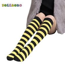 b95a7b122bb 5 Colors Summer Fashion Girls Thin Knee High Socks for Children 3-6Y Red  and White Striped Tube Long Socks Kids High Quality