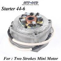 New Electric Starter for 2 stroke engine 49cc pocket bike mini dirt bike mini ATV 49cc Motorcycle Motor Electric Starter