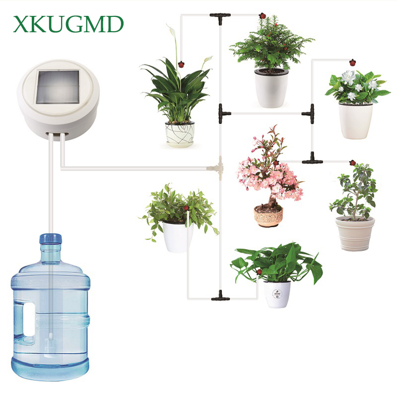 Solar Energy Charging Intelligent Garden Automatic Watering Device Succulents Plant Drip Irrigation Tool Water Pump Timer SystemSolar Energy Charging Intelligent Garden Automatic Watering Device Succulents Plant Drip Irrigation Tool Water Pump Timer System
