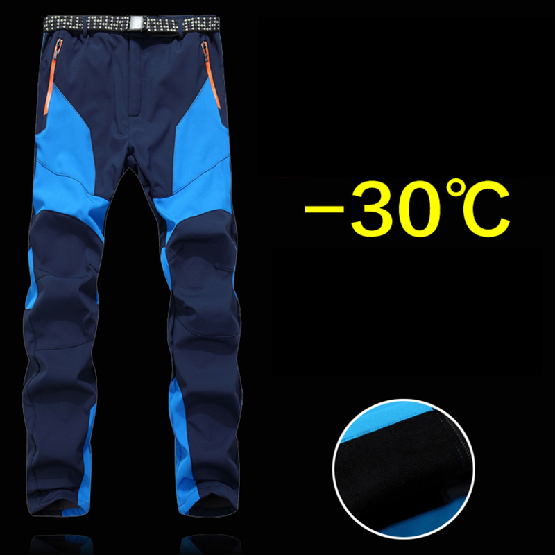 PureLeisure Man Sports Winter Fishing Waterproof Camping Outdoor Fishing Pants -30 Degree Fishing Softshell Trouser S-3XL