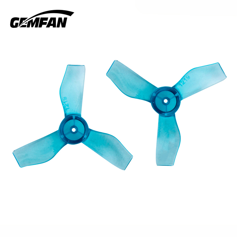 8Pairs 16PCS Gemfan 1219 31mm 0.8mm Hole 3-blade FPV Propeller For 0703-1103 RC Drone FPV Racing Brushless Motor Indoor Whoop