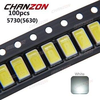 100 pcs SMD 5730 Diode White SMD5730 0.5W LED 5630 6000k 6500k Super Bright Chip SMD5630 5730SMD 150mA PCB SMT Emitting Diode