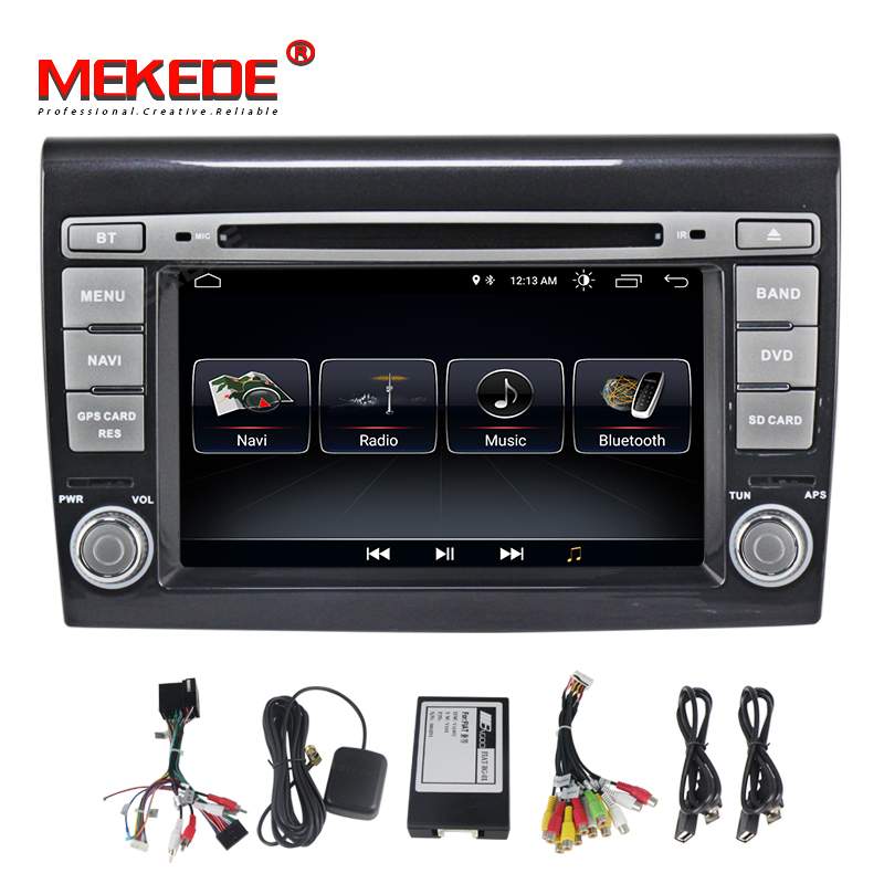 MEKEDE 2 Din android 8.1 Car DVD Player 7'' Autoradio GPS Navigation For Fiat Bravo 2007 2008 2009 2010 2011 2012 Stereo