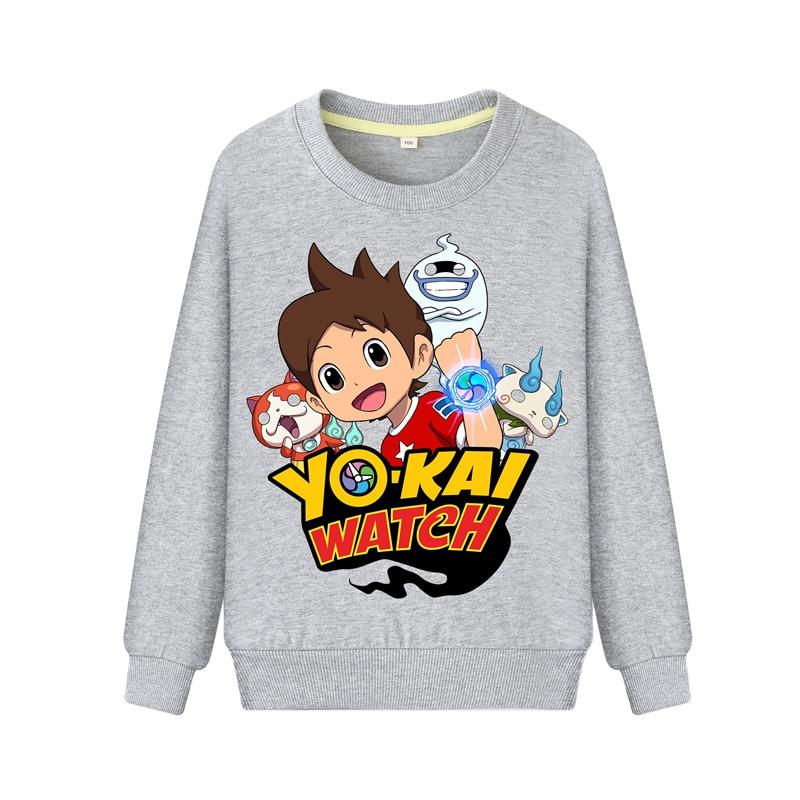 Child Cartoon Yokai Watch Print Hoodies Hoodie Kids Spring Autumn Casual Sweatshirts Boys Girls Long Sleeve Pullover Coat DZ101 (3)