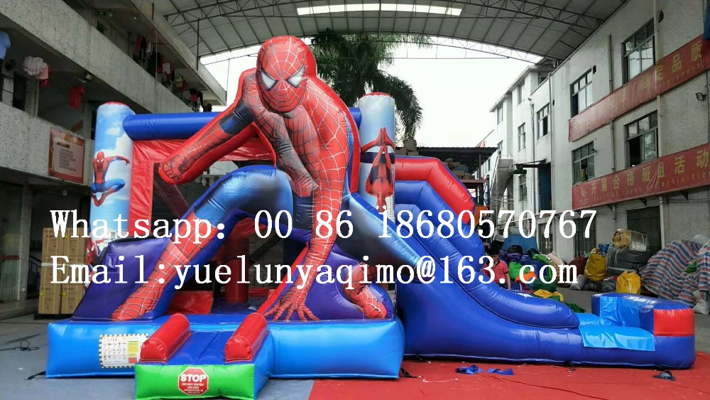 Factory Direct Inflatable Slide Inflatable Castle Trampoline Pool Slide Spiderman Water Slide Combination To Be Sold BYS527