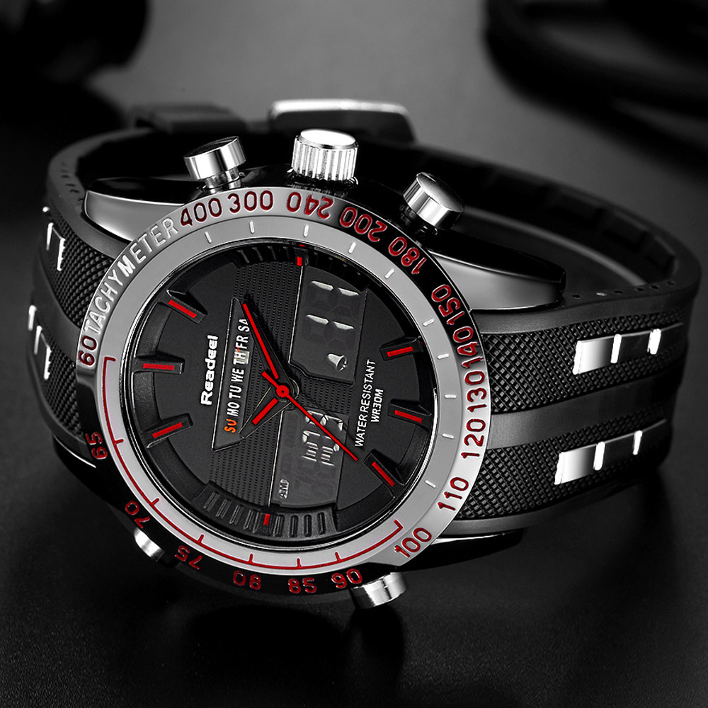 Buy 2018 new brand watch men date day led display luxury sport watches digital for Luxury watches