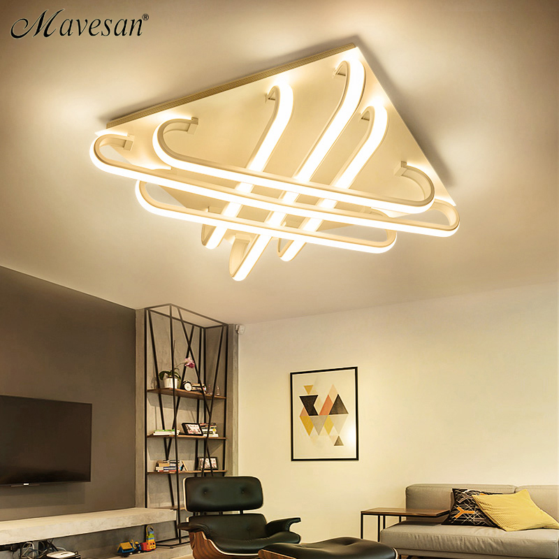 цены 2018 Square led lamp ceiling with brightness dimmer for living room bedroom flush mount plafonnier led light lamparas de techo