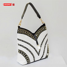 2020 Luxury Fashion Diamond Bag Women Handbag Leather Female Large Capacity Shoulder Bag Messenger Bag Mujer Rhinestone Ladies