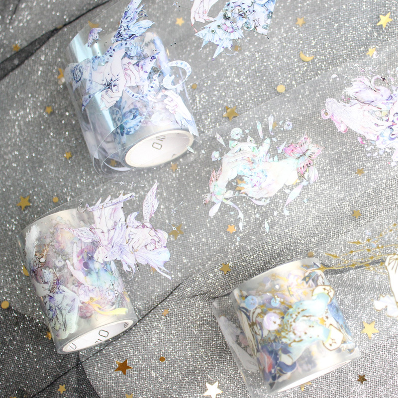 Fantasy Japanese Stationery Bullet Journal Washi Tape Adhesive Tape DIY Scrapbooking Stick Label Transparent Masking Tape