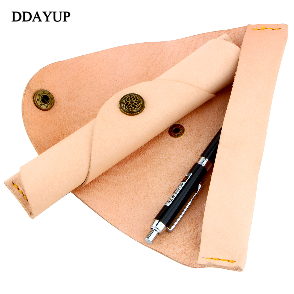 Vintage Handmade Cowhide Fountain pen Leather Case Retro Style Accessories For Traveler's Notebook Office Business Gift parker 88 maroon lacquer gt fine point fountain pen