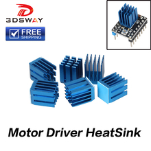 все цены на Free Shipping 3DSWAY 4pcs/lot Stepper Motor Driver Module Heat Sinks Cooling Block Heatsink for A4988 Drive Module 9*9*12mm Blue онлайн