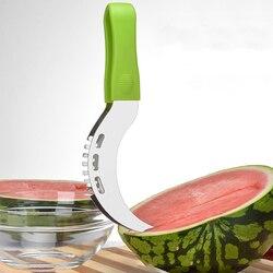 Safe PP Griff Wassermelone Slicer Edelstahl Melone Obst Cutter Messer Für Wassermelone Cutter Küche Gadgets und Zubehör