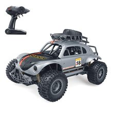 1:14 2.4G 4 Saluran RC Mobil RC Kumbang Rock Crawler Mobil Motor Ganda Drive Bigfoot Mobil Remote Control Mobil model Off-Road(China)