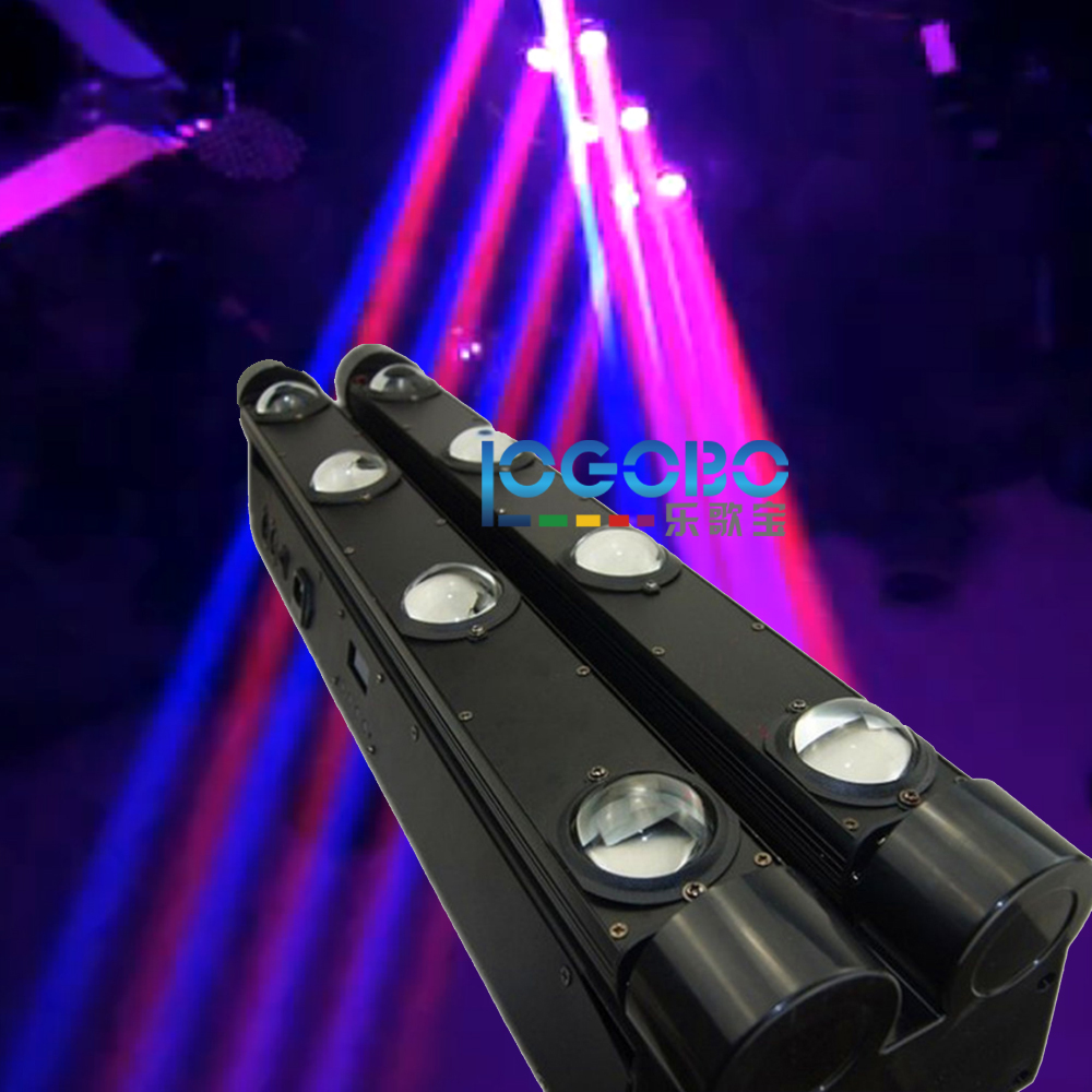 Best Led Moving Head 8x10W White / RGBW 4IN1 Quad Leds Double Row Moving Head Beam Bar Disco DJ DMX Strobe Moving Light Fixture