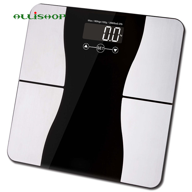 Alli Bathroom Scales Smart 180kg 400lb With Weight Measuring Bmi Body Fat