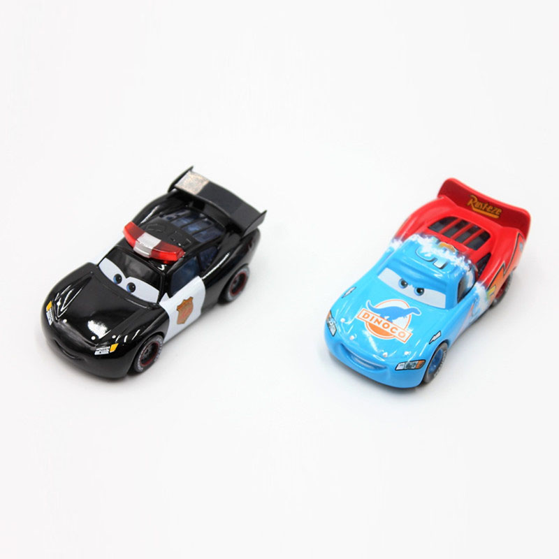 Disney Pixar Cars 2pcs/Lot Lightning Mcqueen 1:55 Scale Diecast Metal Alloy Modle Brio C ...