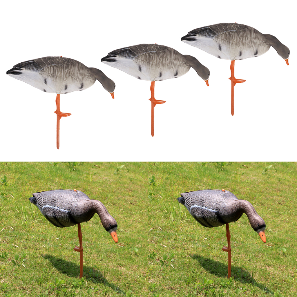 3pcs EVA Foldable Goose Hunting Decoy Lawn Ornaments Garden Decors Hunting Shooting Yard Decoy