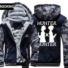 New Winter Warm HUNTER Hoodies Anime Killua Zoldyck Hooded Coat Thick Zipper men casual cardigan Jacket Sweatshirt