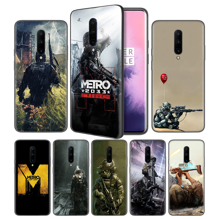 Metro 2033 Soft Black Silicone Case Cover for font b OnePlus b font 6 6T font