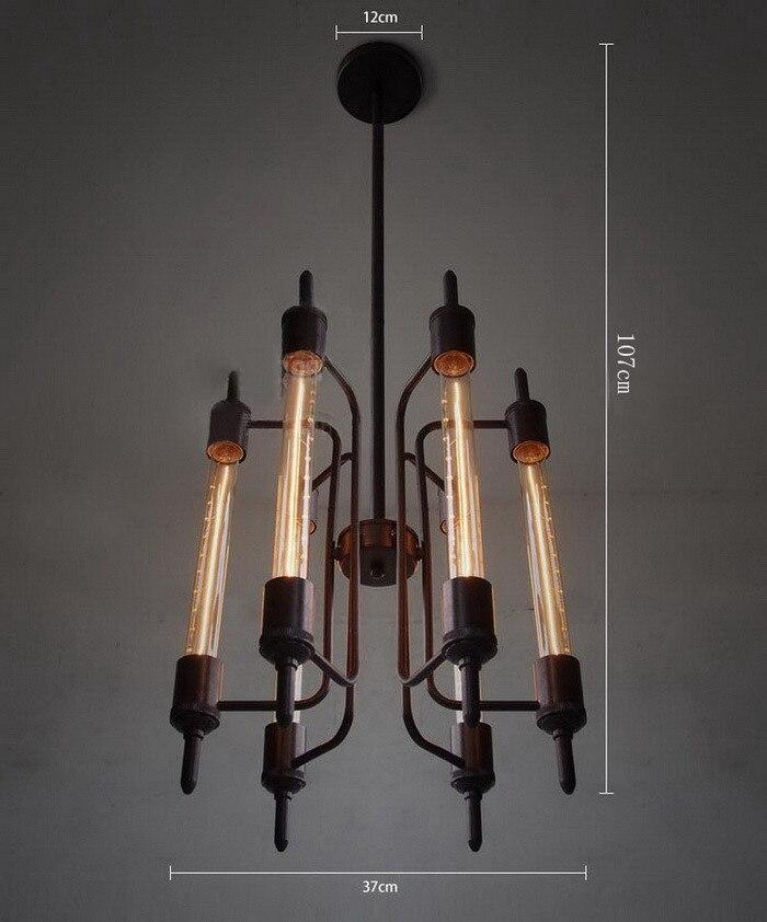 Livraison gratuite Edison ampoules flûte classique nostalgique Punk vapeur industrielle pendentif lumières Vintage Art érigé Suspension 6 lumières