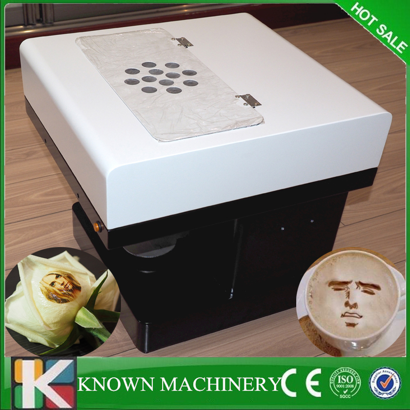 Hot sale Print on milk coffee cake flowers printer latte art coffee printer making machine for free shipping hot milk